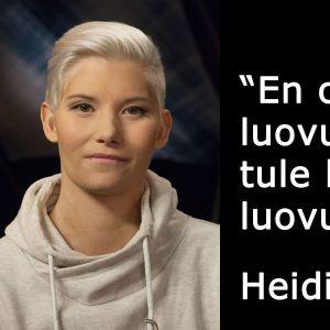 Ampumisessa haavoittunut poliisi Heidi Foxell vieraana tv-ohjelmassa Flinkkilä & Tastula.