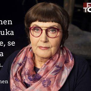 Kuvataitelija Leena-Riitta Salminen vieraana tv-ohjelmassa Flinkkilä & Tastula.