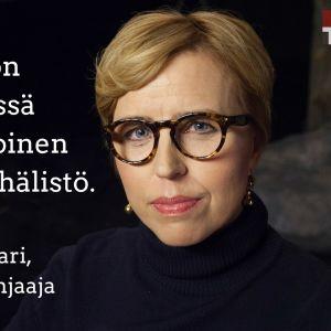 Dokumenttiohjaaja Virpi Suutari vieraana tv-ohjelmassa Flinkkilä & Tastula.