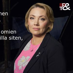 Kasvatustieteen professori Satu Uusiautti vieraana tv-ohjelmassa Flinkkilä & Tastula.