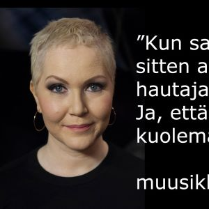 Muusikko Astrid Swan vieraana tv-ohjelmassa Flinkkilä & Tastula.