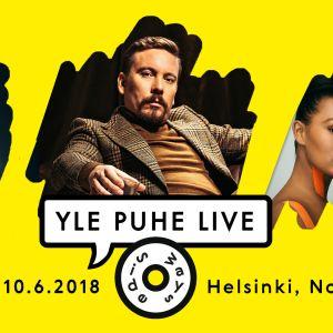 Kuvassa juliste Yle Puhe Live Sidewaysissa