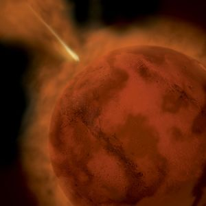 Asteroidi iskeytyy Marsiin.