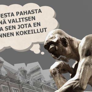 Rodinin ajattelija miettii