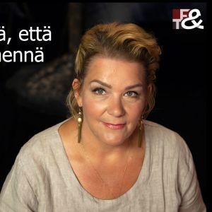 Kirjailija Annina Holmbergin sitaatti.