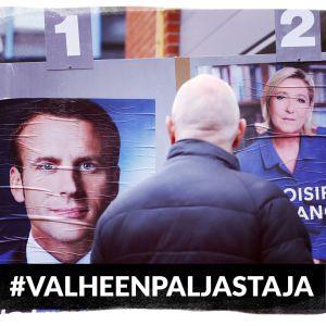 Valheenpaljastajan pääkuva, Ranskan presidentinvaalit.