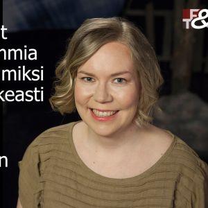 Tutkija Maria Heiskanen Maarit Tastulan vieraana.