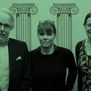 Henkilökuva Jukka Kekkosesta, Hanna Kuuselasta ja Kristiina Mäkelästä.