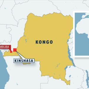 Karta över Kongo