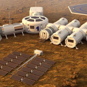 Asuinsijoja Mars-planeetalla.