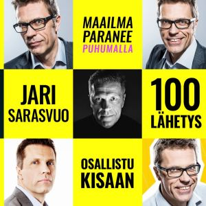 Kuvassa Jari Sarasvuon ohjelmakuvia.