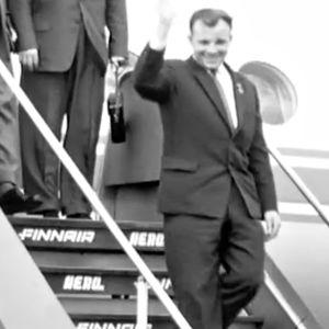 Kosmonautti Juri Gagarin Suomen-vierailulla 1962