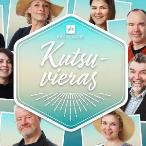 Kuvassa Kutsuvieras-radiosarjan 20 vierasta, kasvokuvat