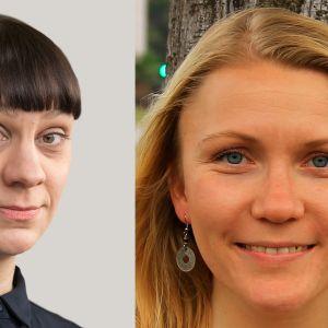 Ylen kirjeenvaihtajat Jenny Matikainen ja Liselott Lindström