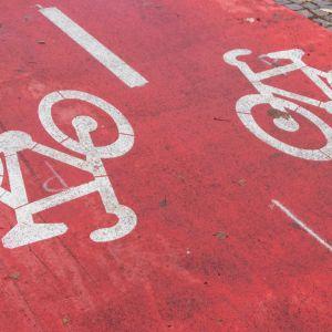 Pyöräbaana, punainen pyörätie