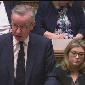 Britannian hallituksen neuvottelulinjauksista kertoi parlamentille kabinettiministeri Michael Gove.