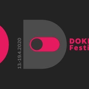 Dokkarifestivaalin logo, pvm 13.-19.4.2020 ja teksti DOKKARI Festivaali
