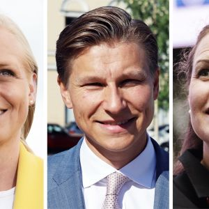 Elina Lepomäki, Antti Häkkänen och Anna-Kaisa Ikonen.