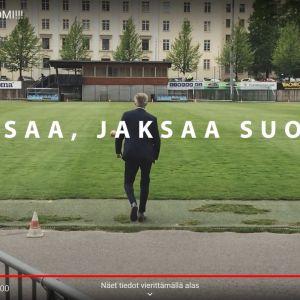 Skärmdump från You tube-video för Finland fixar det-kampanjen