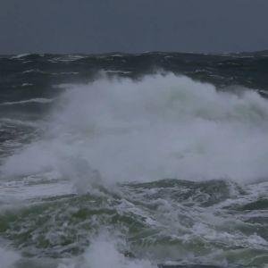 Storm på Bengtskär.