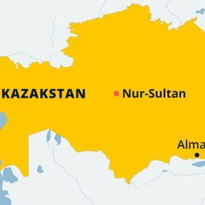 Karta över Kazakstan