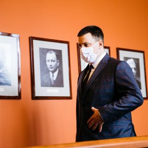 Viron parlamentin puhemies Jüri Ratas.
