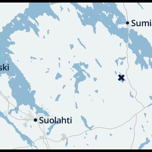 Karttakuva Äänekosken Saarikas-järvestä