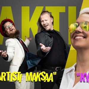 Kuvassa Aktin Jussi Putkonen ja Justus Laitinen sekä Puheen Iltapäiväkerhon Hanna Kataja-Rahko ja Juha Valvio.