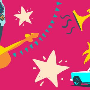"""Muokattu tunnuskuva Yle Radio 1:n vuoden 2021 teemaheinäkuulle """"Latinalaisen Amerikan heinäkuu"""""""