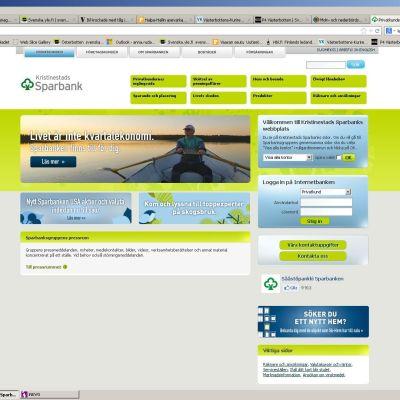 Kristinestads sparbanks webbplats