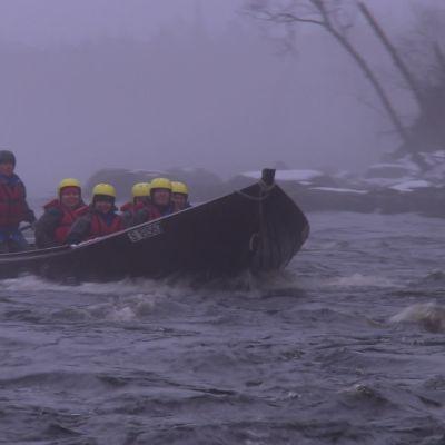 Forsränning i norra Karelen
