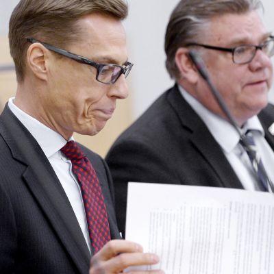 Aleksander Stubb ja Timo Soini