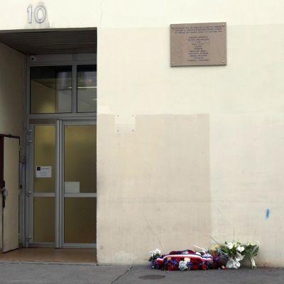 Satiirilehti Charlie Hebdon toimitus.
