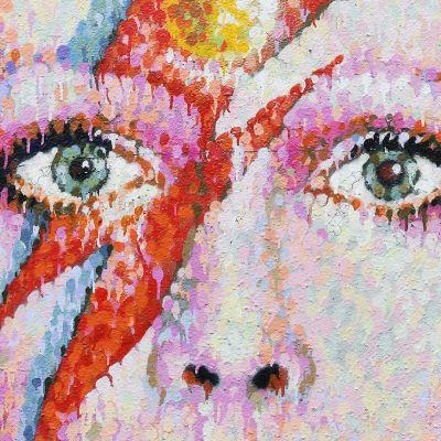 David Bowiesta tehty senämaalaus Lontoossa.