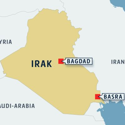 Irak kartta.