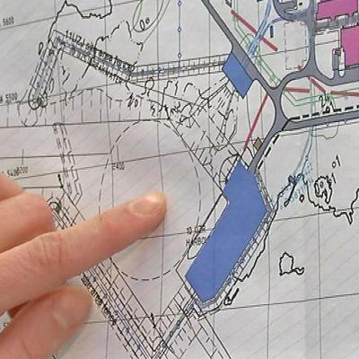 Karttakaavio Hanhikiven ydinvoimalan merivedenottamosta