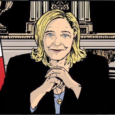 Ranskalaisesta Presidentti-sarjakuvateoksen kansikuva.