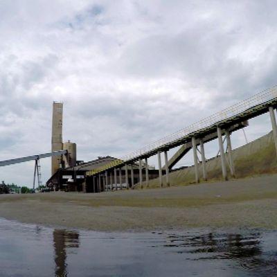 Pyhäsalmen kaivoksen kenttäalue.