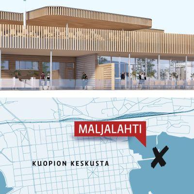 Kuopion Maljalahteen suunnitellaan saunamaailmaa