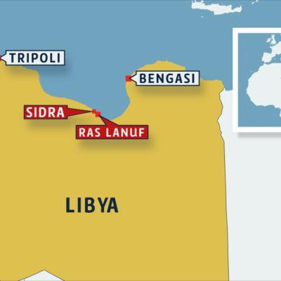 Libyan kartta