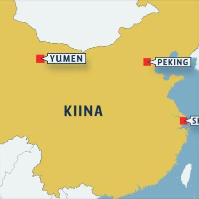Kartta Yuymenin sijainnista.