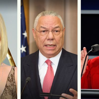 Jennifer Lawrence, Hillary Clinton ja Colin Powell.
