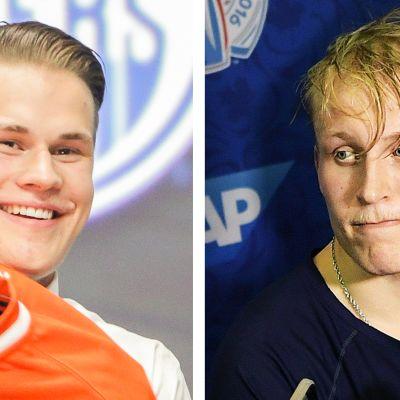 Jesse Puljujärvi ja Patrik Laine.