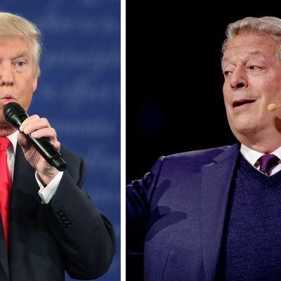 Donald Trump ja Al Gore -kuvakollaasi