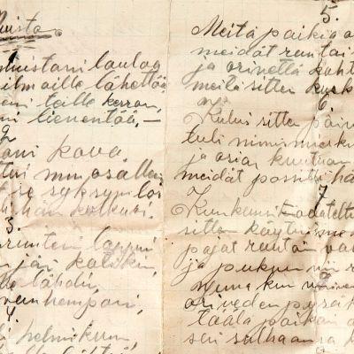 Lappeenrannan Kehruuhuoneen seinästä löytynyt kirje