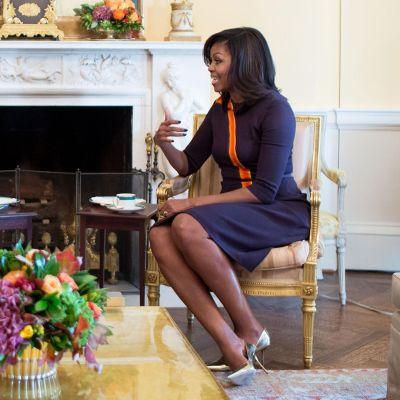 Michelle Obama ja Melania Trump tapasivat Valkoisessa talossa torstaina.