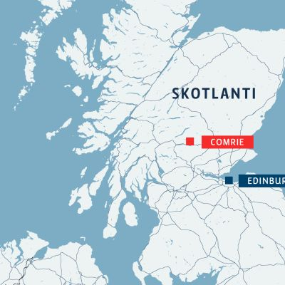 Skotlannin kartta.
