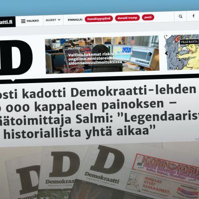 kuvakaappaus Demokraatti-lehdestä