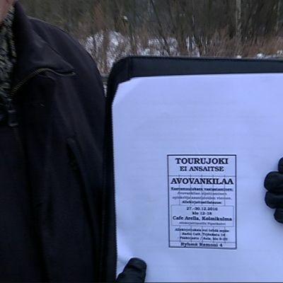 Avovankilan vastustajilta kerätään nimiä Jyväskylässä.