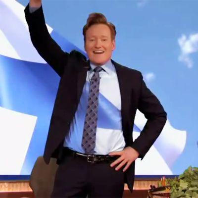 Uutisvideot: Conan O'Brien tervehtii Suomea